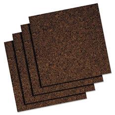 Quartet - Cork Panel Bulletin Board, Brown, 12 x 12 -  4 Panels/Pack