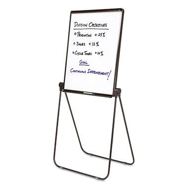Quartet Ultima Presentation Dry Erase Easel, Melamine, 27 x 34, White, Black Frame