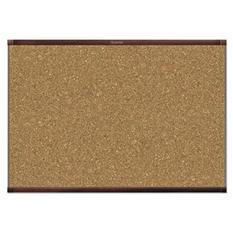 Quartet - Prestige 2 Magnetic Cork Bulletin Board, 48 x 36 -  Mahogany Frame