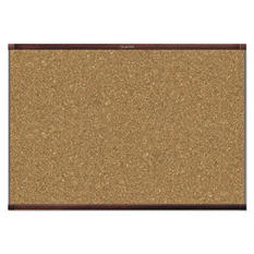 Quartet - Prestige 2 Magnetic Cork Bulletin Board, 72 x 48 -  Mahogany Frame