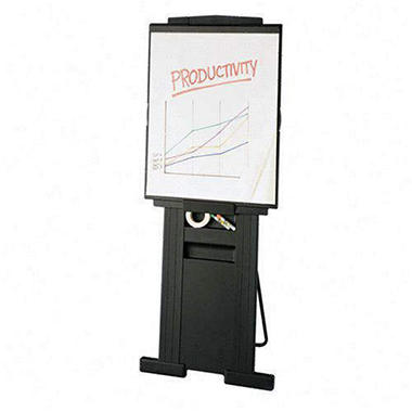 "Quartet Duramax Portable Presentation Easel, Adjusts 39"" to 72"" High, Plastic, Gray"