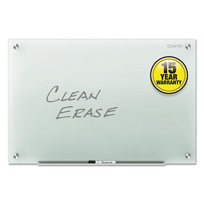 "Quartet 72"" x 48"" Infinity Glass Marker Board, Frosted"