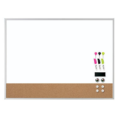 Quartet - Dry Erase Combination Board, 17 x 23 - White