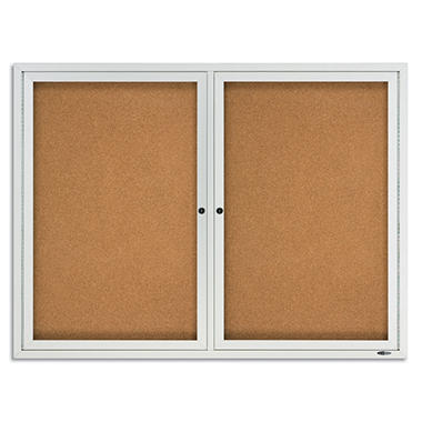 Quartet - Anodized Aluminum Frame Cork Board