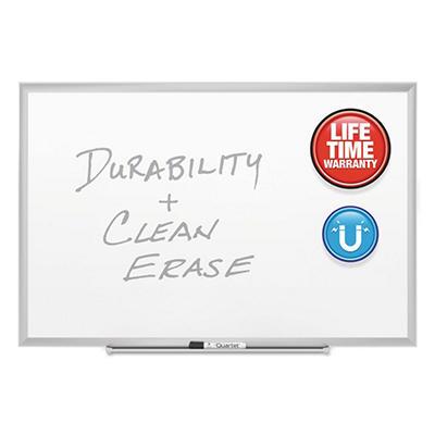 """Quartet - Magnetic Dry-Erase Board, Porcelain, 36"""" x 24"""", Aluminum Frame"""