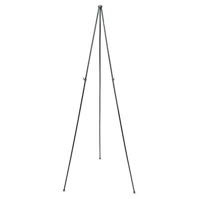 "Quartet Full Size Instant Easel, 62-3/8"" Maximum Height, Steel, Black"