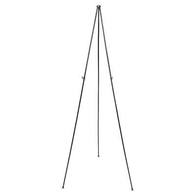 "Quartet Full Size Instant Easel, 62-3/8"" Maximum Height, Steel, Black"