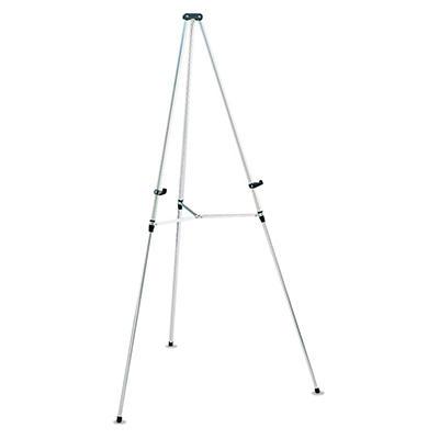 """Quartet Lightweight Telescoping Tripod Easel, 38"""" to 66"""" High, Aluminum, Silver"""