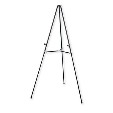 "Quartet Lightweight Telescoping Tripod Easel, Adjusts 38"" to 66"" High, Aluminum, Black"