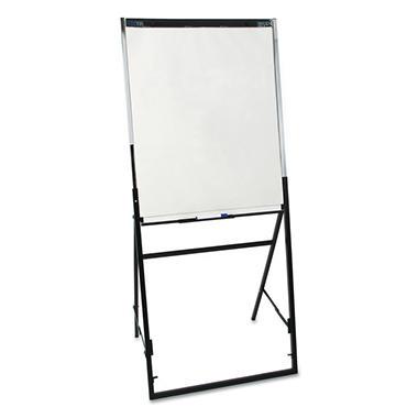 Quartet Futura Dry Erase Presentation Easel, Melamine, 24 x 36, White, Black Frame