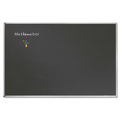 Quartet - Porcelain Black Chalkboard with Aluminum Frame, 51 x 37 - Silver