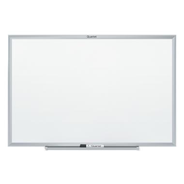 Quartet - Classic Melamine Whiteboard, 36 x 24 -  Silver Aluminum Frame