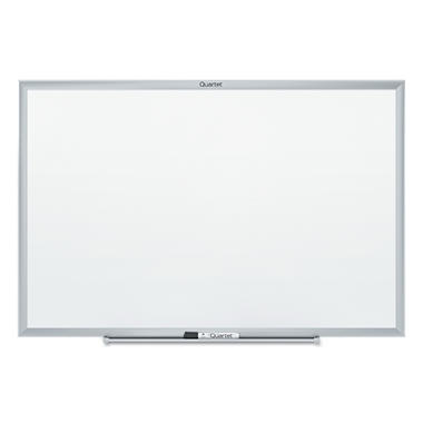 "Quartet 60"" x 36"" Dry-Erase  Melamine Board, White with Aluminum Frame"