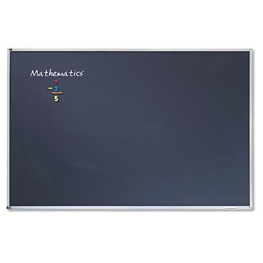 Quartet - Porcelain Black Chalkboard with Aluminum Frame, 72