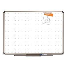 "Quartet 96"" x 48"" Total Dry Erase Board, White with Euro-Style Aluminum Frame"