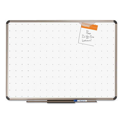 "Quartet 48"" x 36"" Total Dry Erase Board, White with Euro-Style Aluminum Frame"