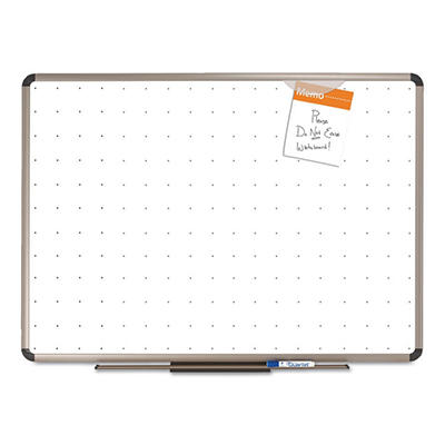 "Quartet 72"" x 48"" Total Dry Erase Board, White with Euro-Style Aluminum Frame"