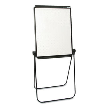Quartet Total Erase Presentation Dry-Erase Easel, 26 x 34, White, Black Steel Frame