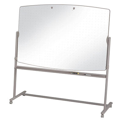 "Quartet 72"" x 48"" Reversible Mobile Presentation Easel Dry-Erase, White with Neutral Frame"