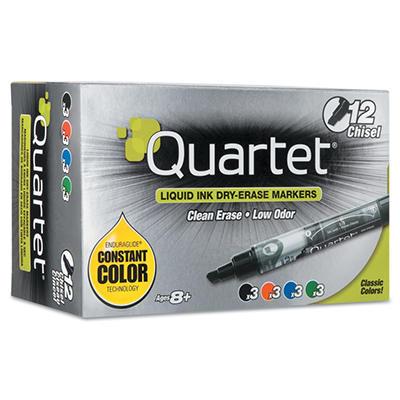 Quartet EnduraGlide Dry Erase Markers, Assorted Colors (Chisel Tip, 12 ct.)