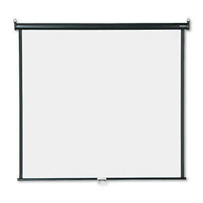 Quartet Wall or Ceiling Projection Screen, 60 x 60, White Matte, Black Matte Casing