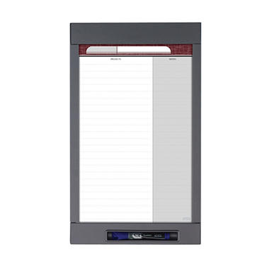 "Quartet - InView Custom Whiteboard, 20"" x 12"", Graphite Frame"