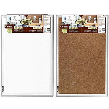 Quartet Dual Side Whiteboard/Bulletin Board