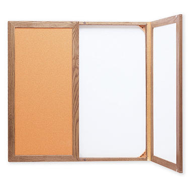 Conf Cabinet Cork/Dry-Erase 3'x3'/WE/OK Frame