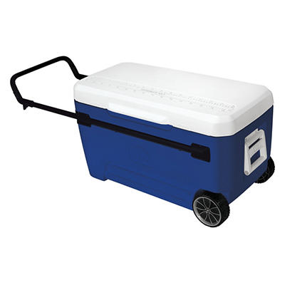 Igloo Glide Roller Cooler - Blue - 110 qt.