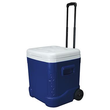 Igloo Rolling Cooler - Majestic Blue - 60 qt. Capacity
