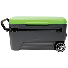 110-Qt. Glide Cooler - Gray/Green