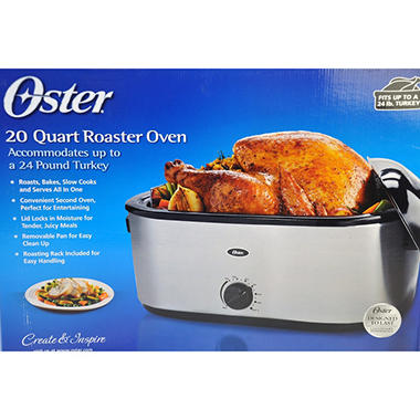 Oster® 20-Qt Stainless Steel Roaster Oven