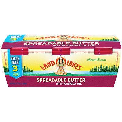 Land O'Lakes® Spreadable Butter - 15 oz. tubs - 3 ct.