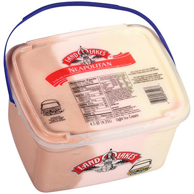 Land O' Lakes? Neapolitan Light Ice Cream - 4.5 qt.