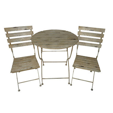 Mendocino Weathered Birch 3 Piece Bistro Set