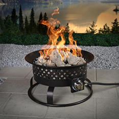 Aurora Steel Gas Firebowl, Rubbed Bronze