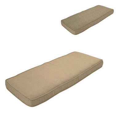 4' Bench Cushion w/Welt - Reversible Pebble