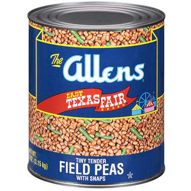 Allens® Field Peas with Snaps - 6lb 15oz can