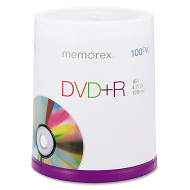Memorex DVD+R - 100 Pack