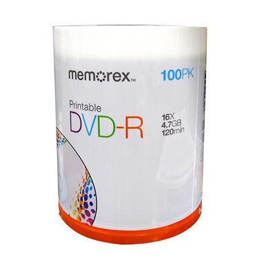 Memorex Printable DVD-R - 100 pk.