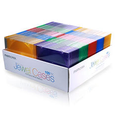 Memorex Slim Jewel Case - 100 Pack