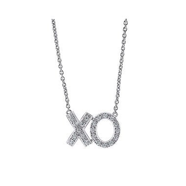 "0.25 ct. t.w. ""XO"" Diamond Pendant in 14K White Gold (H-I, I1)"