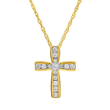 0.25 ct. t.w. Diamond Cross Pendant in 14K Yellow Gold (H-I, I1)