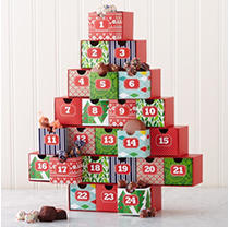 Mrs. Prindables Christmas Advent Calendar with Assorted Chocolates
