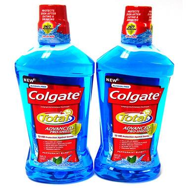Colgate Total Mouthwash - 1 Liter - 2 pk.