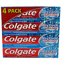 Colgate MaxFresh Toothpaste, Cool Mint (7.8 oz., 4 pk.)