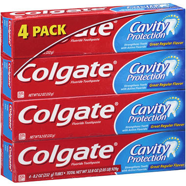 Colgate� Cavity Protection Fluoride Toothpaste - 8.2 oz. - 4 pk.