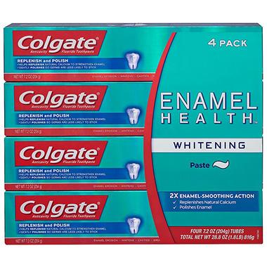 Colgate Enamel Health Whitening Toothpaste (7.2 oz., 4 pk.)