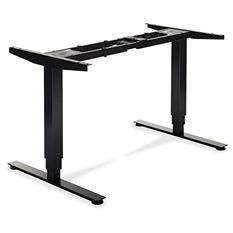 "Lorell 50"" Electric Height-Adjustable Sit-Stand Desk Base, Black"