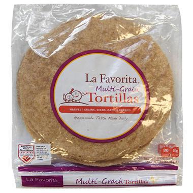 La Favorita Multi-Grain Whole Wheat Tortillas 2PK-10 ct.